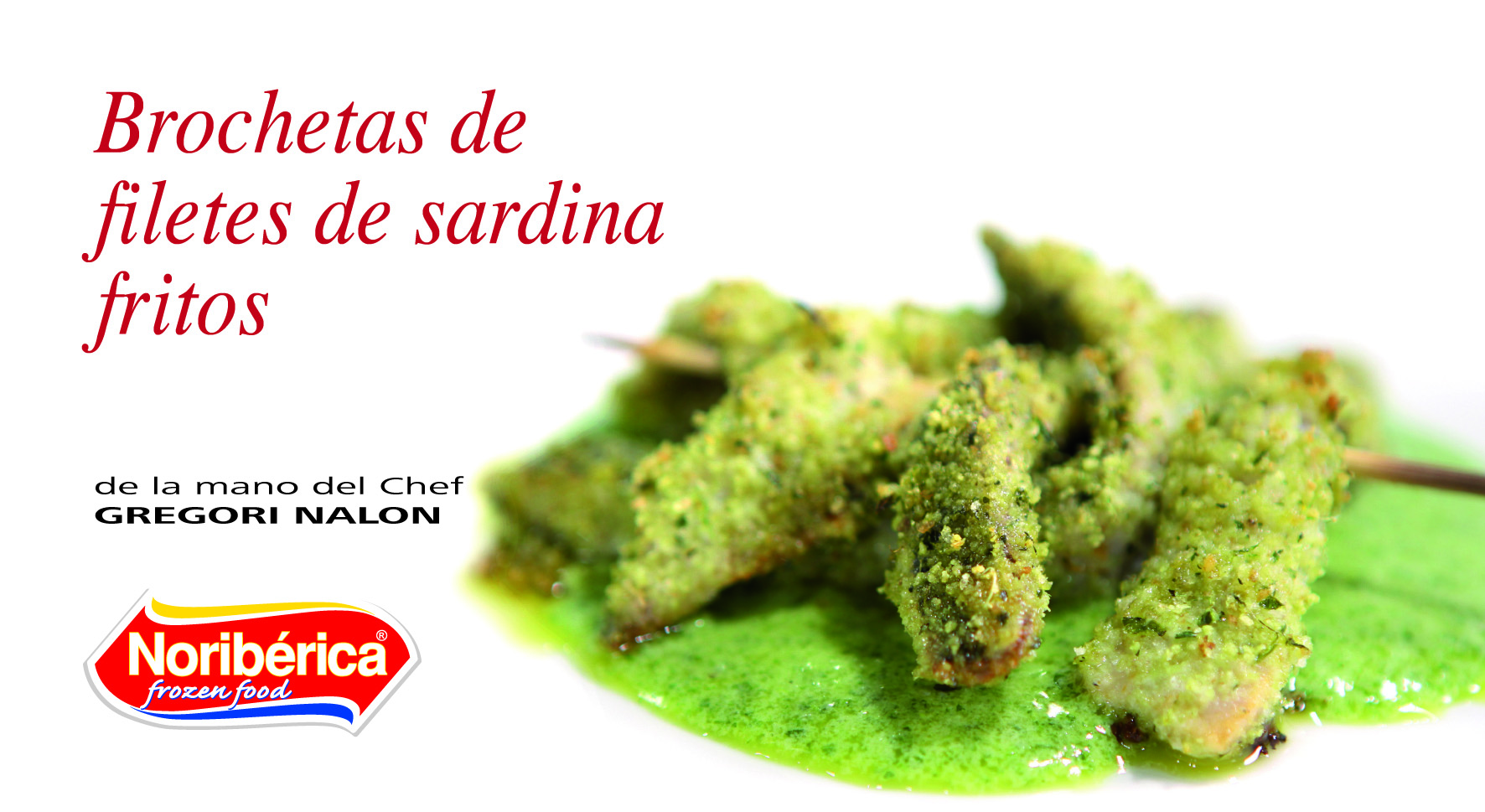 brochetas de filetes de sardina