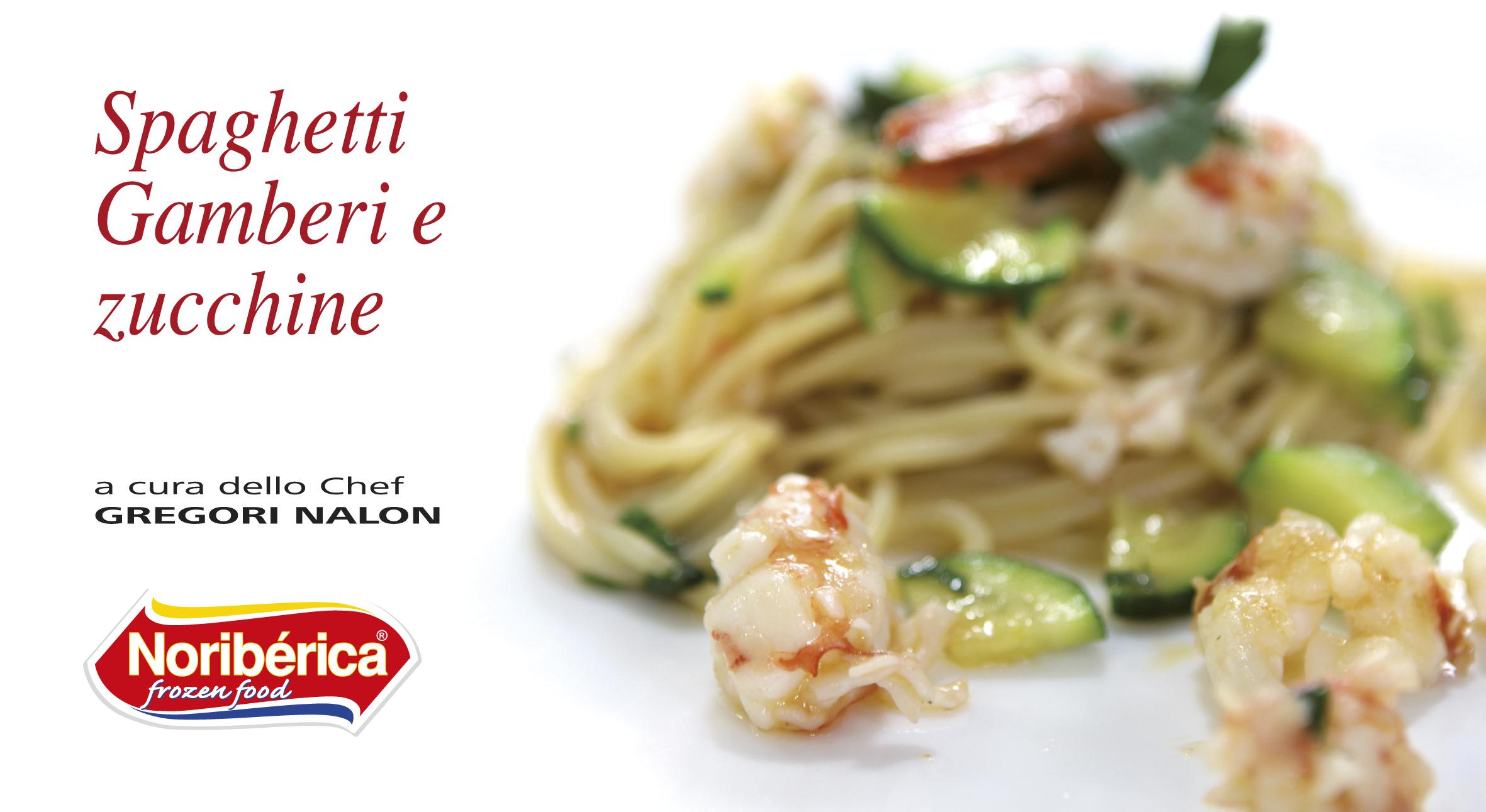 spaghetti gamberi e zucchine