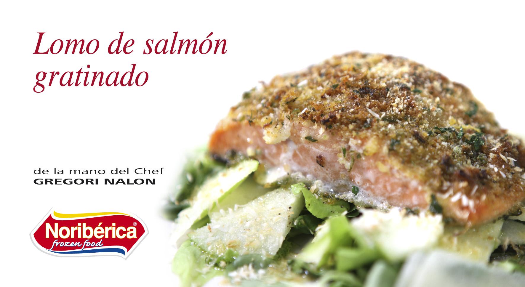 lomo de salmon gratinado