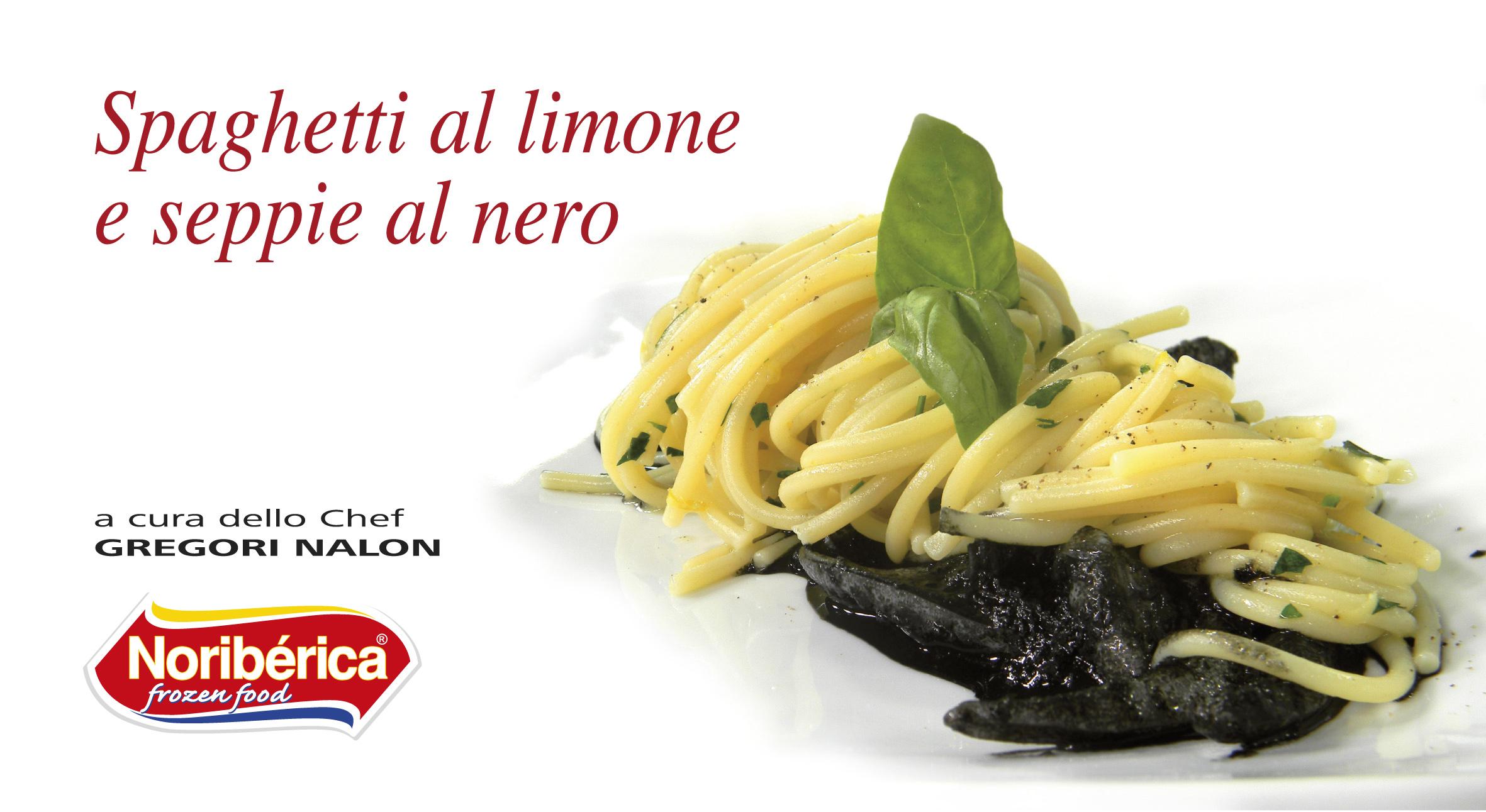 Spaghetti al limone e seppie al nero